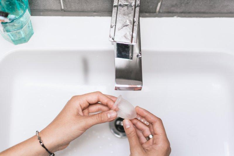 Pravidelné vymývání kalíšku přispívá ke správné hygieně