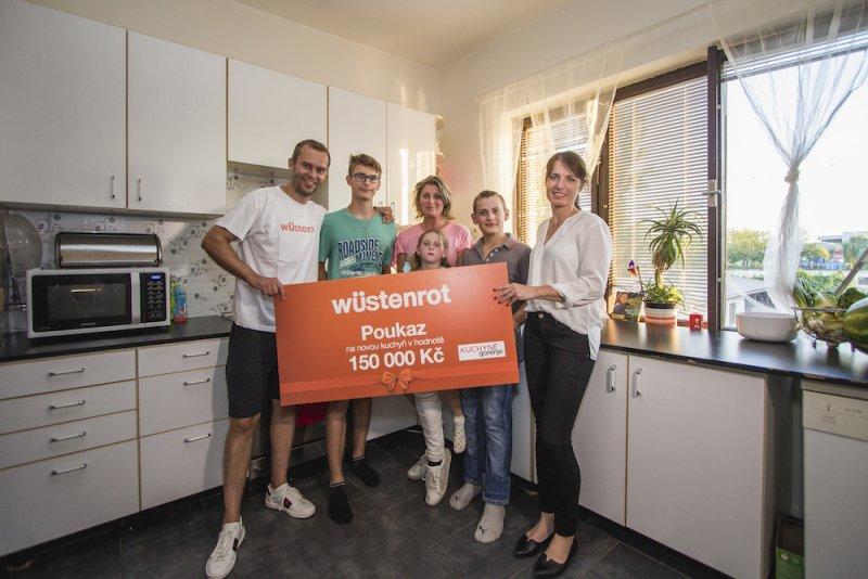 Vítězové soutěže o rekonstrukci kuchyně v hodnotě 150 000 Kč, Zdroj: Wüstenrot