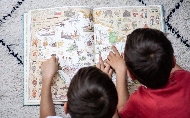 Díky Mapám děti objeví spoustu nových informací.