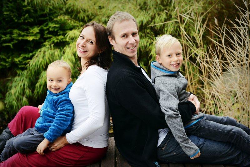 Lucie s manželem a dvěma syny. Zdroj: Archiv Lucie Lebduškové