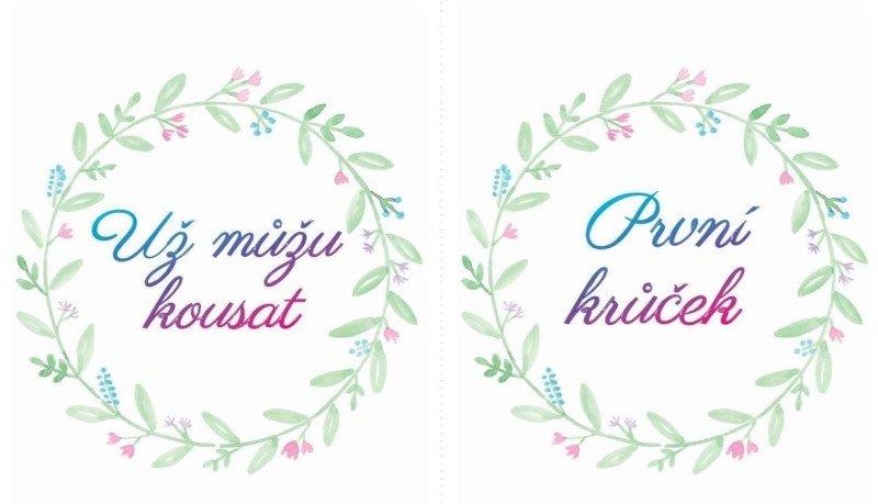 Naše milníkové kartičky mají krásně jemnou grafiku.