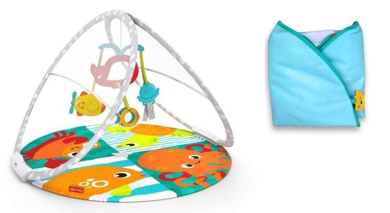 Hrací deka je praktickým pomocníkem. Zdroj: Fisher-Price.
