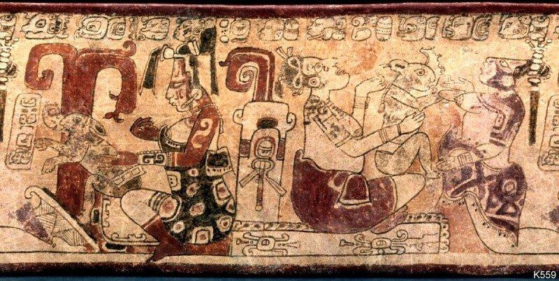 Mayská bohyně. Zdroj: research.mayavase.com