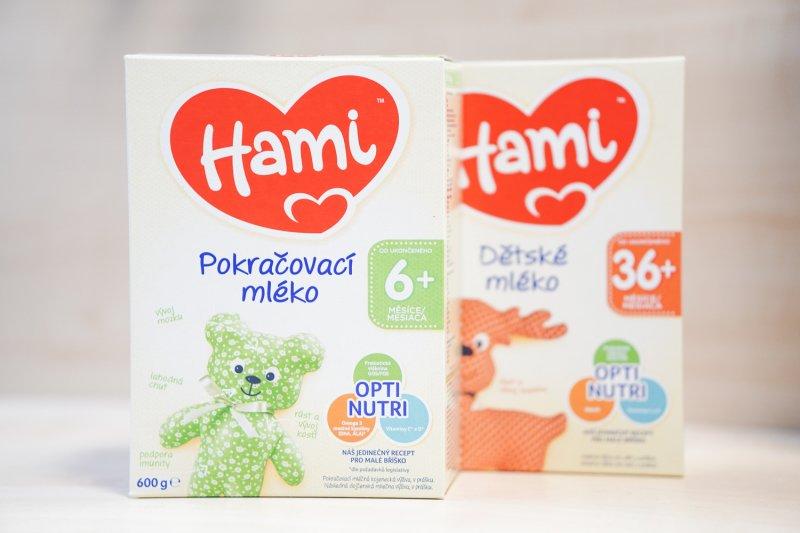 Kdo vyzkouší pokračovací a dětská mléka od Hami? Šance je velká!