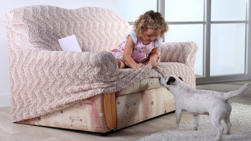 Malé děti a domácí zvířata dokáží sedačku pěkně zaneřádit. Zdroj: decoDoma.cz.