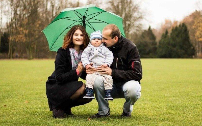 Rodina ještě v době, než Šárka onemocněla. Zdroj: Šárka Steinochrová.