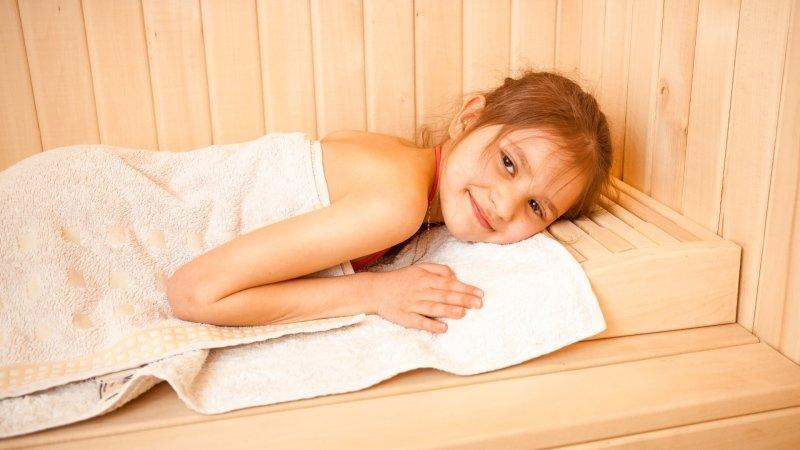Sauna je prospěšná i pro děti. Zdroj: Ingimage