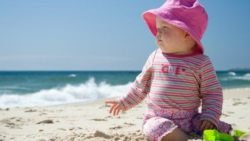 Chránit děti před sluníčkem musíme i oblečením. Zdroj: Canva