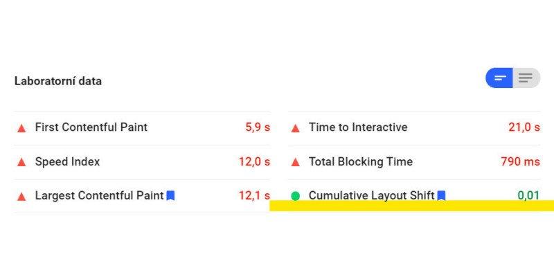 Nulové CLS znamená, že vám stránky konečně přestaly poskakovat nahoru a dolů.