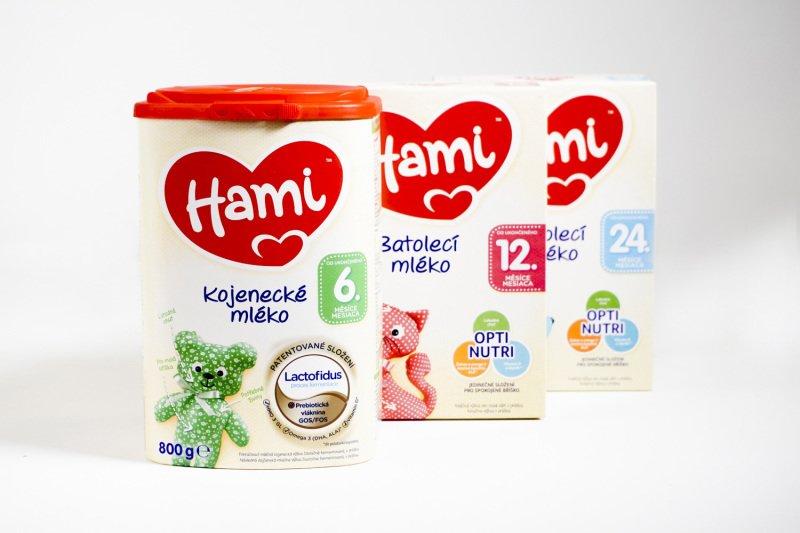 Vyzkoušeli jste Hami 6  pokračovací kojenecké mléko, Hami 12  a 24  batolecí mléko. Jak dopadly? Zdroj: Hami.
