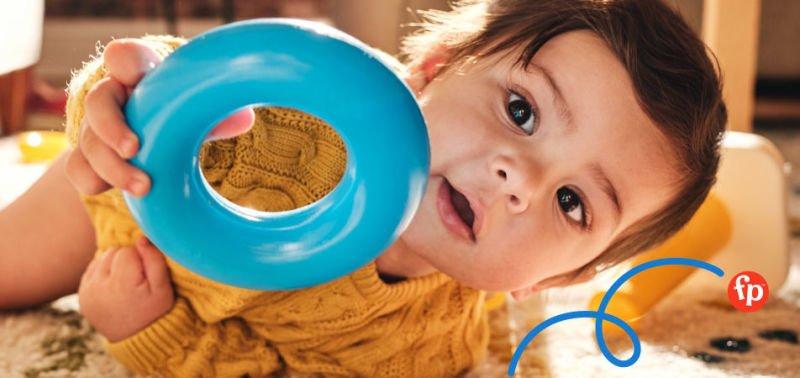 Kdo z nás doma neměl oblíbenou hračku s kroužky. Zdroj: Fischer-Price.